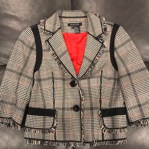 Plaid Blazer with 3/4 inch sleeves